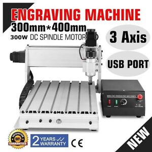 300w 3040 3 Axis Cnc Router Engraver 3d Engraving Drilling Milling Machine Hq