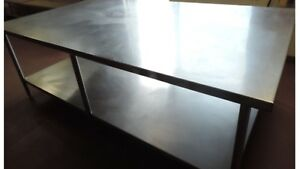 Heavy Duty Stainless Steel Island Work Table W Under Shelf 96 X 56