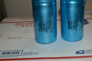 Lot Of 2 Mallory Type Cgx 36000 mfd 75 Vdc Capacitor