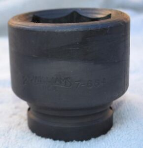 Williams 7 664 1 Drive Impact Socket 6 Point 2 inch