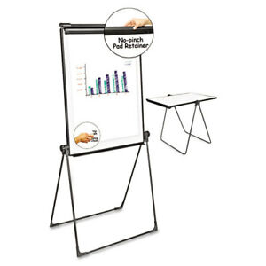 Universal Foldable Double Sided Dry Erase Easel 28 5 X 37 5 White black