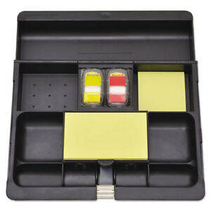 Post it Recycled Plastic Desk Drawer Organizer Tray Plastic Black