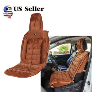 Faux Fleece Plush Winter Front Car Seat Cover Comfort Back Support Protector Us