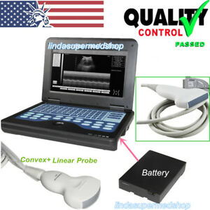 Digital Portable Laptop Ultrasound Scanner Diagnostic System Convex linear Probe