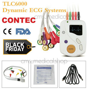 Contec Dynamic Ecg System 12 lead 48 Hour Recorder Holter Ekg Monitor Software