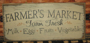 Primitive Country The Farmer S Market 12 Sign
