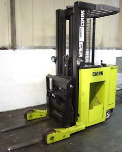 Clark np20 4000lbs Electric Reach Truck no Battery