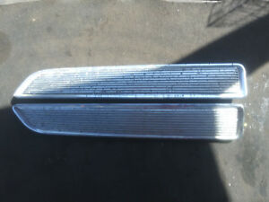1968 Plymouth Barracuda Hood Ornament Louvers pair used