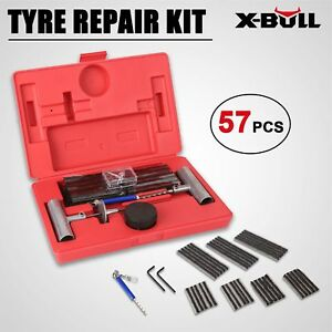 X Bull 57pc Tire Repair Tools Kit Diy Flat Car Truck Motorcycle Home Plug Patch