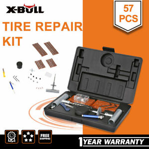 X Bull 57pc Tire Repair Kit Diy Flat For Car Truck Motorcycle Home Plug Patch