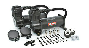 Viair Dual 444c Stealth Black Air Compressors Kit For Train Horns 12v 200 Psi