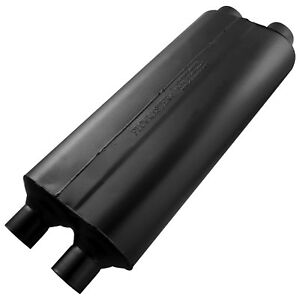 Flowmaster 524704 70 Series Muffler 2 25 Dual In 2 25 Dual Out Mild Sound