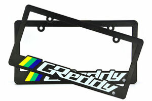 X2 Jdm Greddy Racing License Plate Frame Universal For Honda Acura Nissan