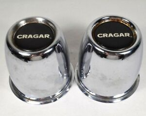 Vtg Cragar Center Caps Wheel Trim Push Through As Is