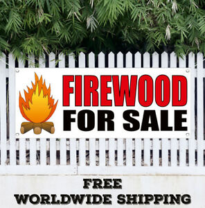 Banner Vinyl Firewood For Sale Advertising Sign Flag Wood Split Cord Seasonal