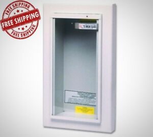 Kidde 10 Lbs Semi Recessed Fire Extinguisher Cabinet Tempered Glass Brand New
