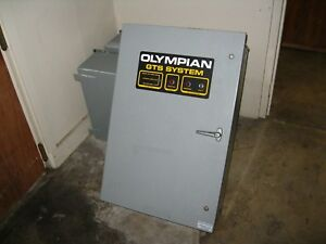 Generac Olympian Used Working 100 Amp 3 Phase Automatic Transfer Switch 277 480v