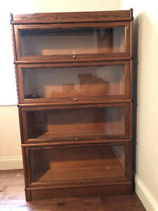 Antique Macey Barrister Bookcase 4 Stack Oak Beautiful