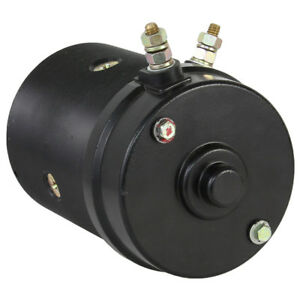 New Snow Plow Motor Dual Post 21500 452254 Fisher Western W Oil Seal 12v