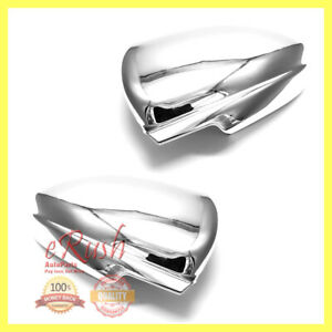 For 2009 2015 Chevrolet Cruze Chrome Side Mirror Covers Cover Pair 2014 2013 New