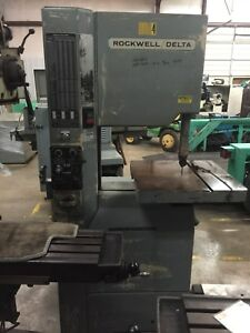 Rockwell delta 20 Bandsaw Vari Speed High Low Wood Or Metal 480v 3 Phase
