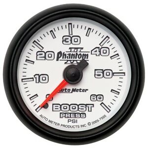 Auto Meter Phantom Ii 52 4mm Mechanical 0 60 Psi Boost Gauge