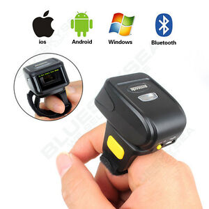 Mini Handheld Bluetooth Finger Wear Barcode Scanner Reader For Android