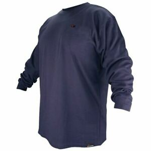 Revco Ftl6 nvy navy Blue Long Sleeve Fr Welding T shirt