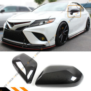 For 18 2020 Toyota Camry Le Se Xle Xse Real Carbon Fiber Side Mirror Cover Cap