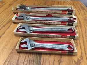 Vintage Snap On Adjustable Wrench Set