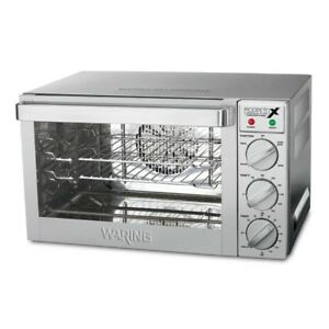 Waring Commercial Wco250x 1 4 sheet Pan Sized Convection Oven