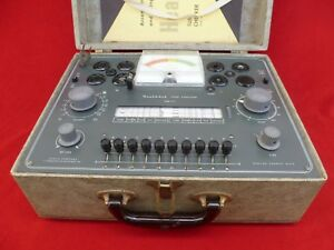 Heathkit Tc 2 Vacuum Tube Tester Tested Working With Manual Wood Case
