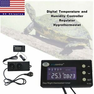Digital Temperature Controller Regulator Crawling Pet Day night Thermostat Usa