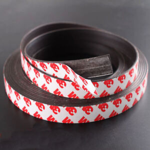 New 3m Self Adhesive Magnetic Tape Flexible Craft Sticky Magnet Strip Width 2mm