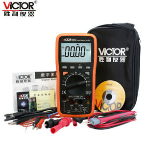 Victor Digital Universal Multimeter Display Table Dc ac frequency temperature