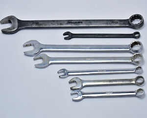 Snap On 7 Piece Misc Sae Combination Wrench Lot Goex Oex T231