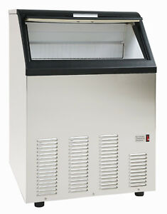 Chef s Exclusive Commercial Undercounter 130lb Clear Bullet Ice Maker Machine