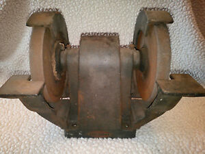 Vtg Craftsman Cast Iron Bench Grinder 2 speed Belt pulley Drive Vg Works