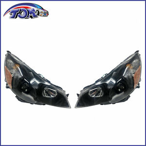 New Headlamps Left right Black Design For 2010 2014 Subaru Legacy Outback