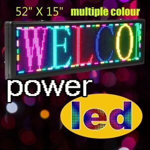 Led Sign 52 X 15 Outdoor Programmable Scroll Message Board Multiple Color Open