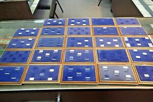 Lot 24 Vintage Wood Velvet Jewelry Counter Ring Displays