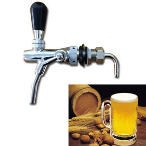 Draft Beer Faucet With Flow Controller Chrome Plating Shank Tap Kit 9001