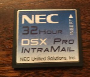 Nec Dsx 40 80 160 1091053 32 Hour Intramail V1 4 G 8 Port Pro Voice Mail Card