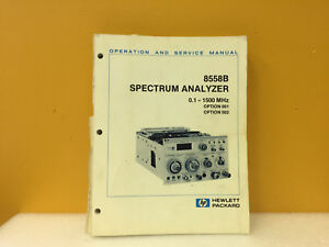 Hp Agilent 8558b Spectrum Analyzer Operation Service Manual