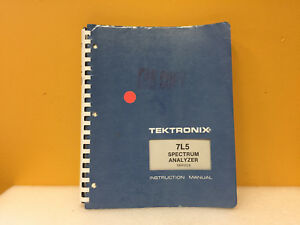 Tektronix 7l5 Spectrum Analyzer Service Instruction Manual