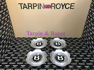 Bentley Gt Gtc Flying Spur Wheel Center Caps Disc Black Cap Set Of 4 Item wc05