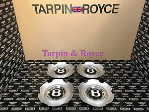 Bentley Gt Gtc Flying Spur Wheel Center Caps Disc Black Cap Set Of 4 Item wc02