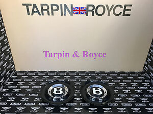 Bentley Gt Gtc Flying Spur Wheel Center Cap Discs Black Cap Set Of 2 Item wc03