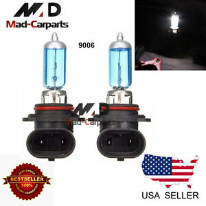9006 55w Halogen Xenon Headlight Replacement 2x Light Bulb Lamp 6000k White