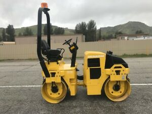 Dynapac Cc122 Vibratory Smooth Drums Roller 1214 Hours Only Ex California City